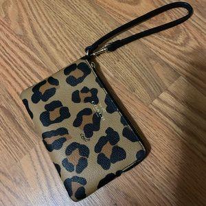 Coach cheetah wristlet